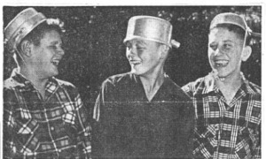 Mansfield, Ohio boys wear tin pots on their head to honor Johnny Appleseed in 1953.