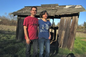 Scott Heath and Ellen Cavalli of Tilted Shed Ciderworks in Forestville, California