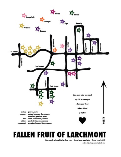 One of the many neighborhood fruit maps created by Fallen Fruit
