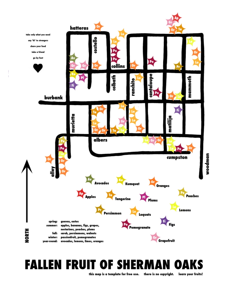 Fruit Map of Sherman Oaks by Fallen Fruit