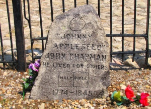 Probable grave of John Chapman, in Fort Wayne, Indiana.