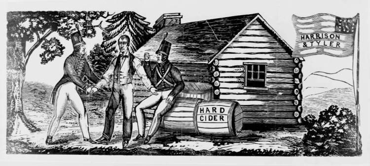 Harrison-log-cabin-campaign