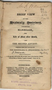 "A tract explaining Swedenborg's ""Doctrine of Conjugial Love."""