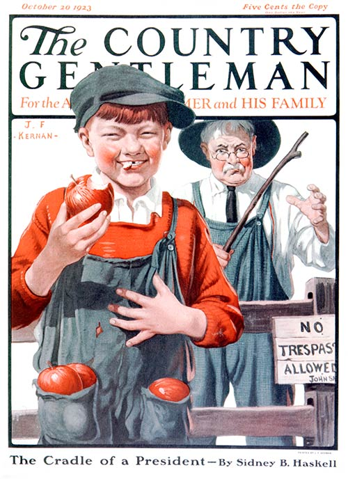 October 1923 cover of Country Gentleman magazine.