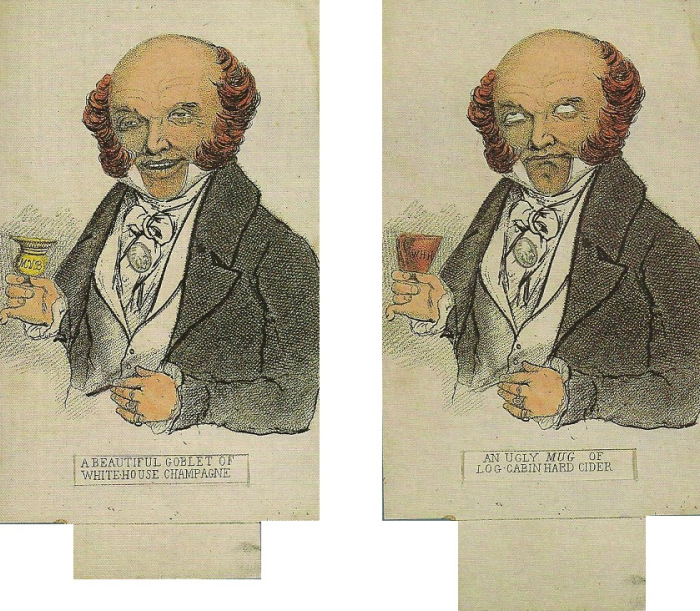 Martin Van Buren enjoys champagne and gags on hard cider