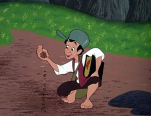 Johnny Appleseed's Bible features prominently in the Disney version of the story, from the 1948 animated feature Melody Time.