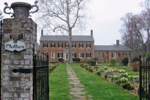 Chatham Manor today. Before the Civil War, this was the back of the house, with the front yard overlooking the Rappahannock.