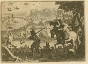 Many early engravings of North America depicted a land of extraordinary abundance.