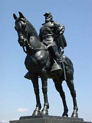 """The steroid-infused version of Jackson and his horse """"Little Sorrel"""" on the Manassas Battlefield."""
